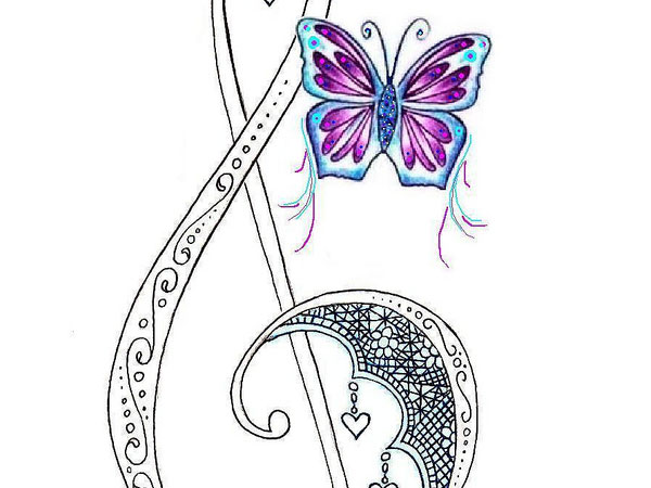 lace treble clef tattoo 30 Mind Blowing Tattoo Sketches