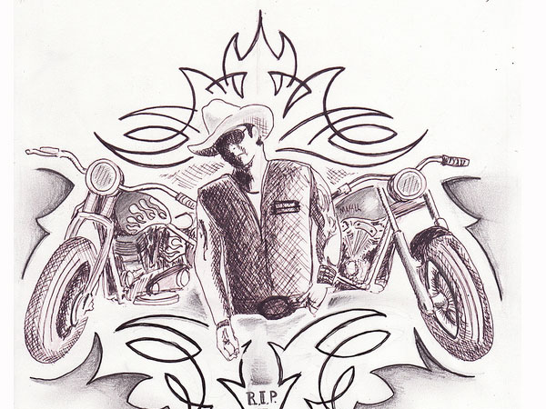 tribute sketch 30 Mind Blowing Tattoo Sketches