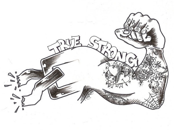 true strong 30 Mind Blowing Tattoo Sketches