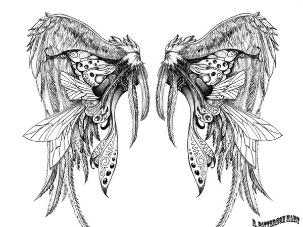 wing tattoo design 30 Mind Blowing Tattoo Sketches