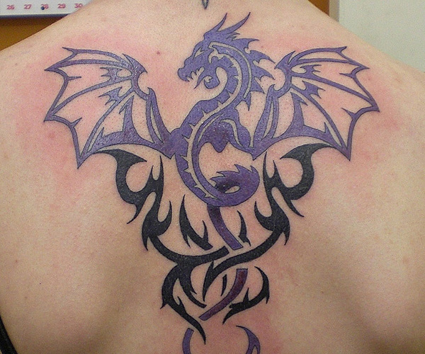 Tribal Dragon Intertwined