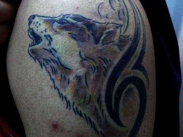 wolf tattoo 25 Spectacular Tribal Wolf Tattoo