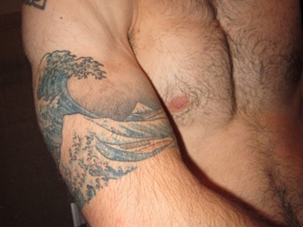 lovely wave tattoo 25 Magical Wave Tattoos