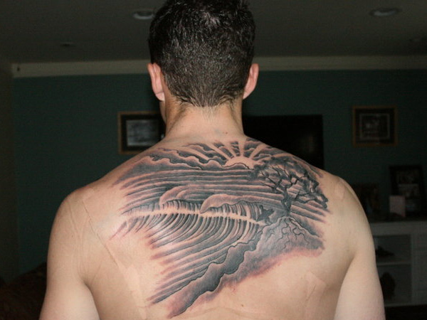 Surfer Wave Tattoo Picture
