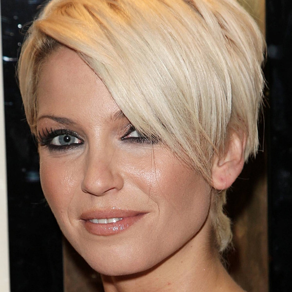 Blonde Wedge Haircut