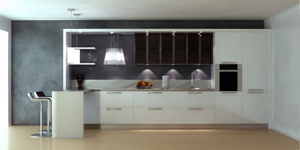 small straight kitchen design. Simplest Of All 25 Lively White Kitchen Designs  SloDive