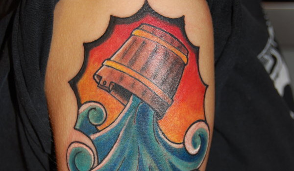 arm aquarius tattoo 30 Incredible Aquarius Tattoos