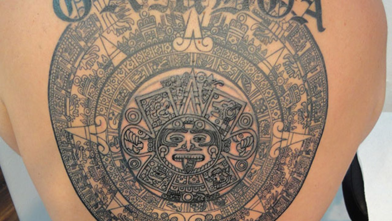 Aztec Temple Tattoo 25 incredible aztec tribal tattoos - slodive