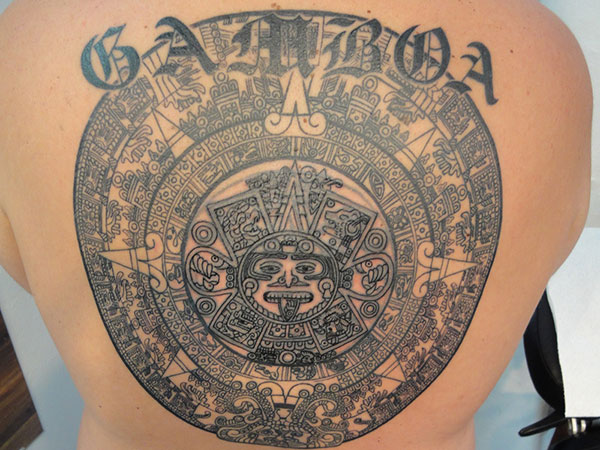 aztec representing 25 Incredible Aztec Tribal Tattoos
