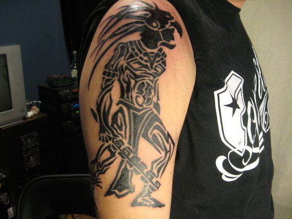 caballero aguila tattoo 25 Incredible Aztec Tribal Tattoos