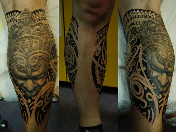 polynesian aztec 25 Incredible Aztec Tribal Tattoos