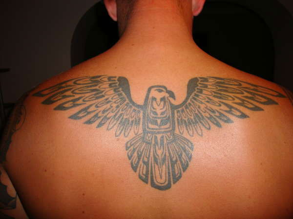 tattooed aztec eagle 25 Incredible Aztec Tribal Tattoos
