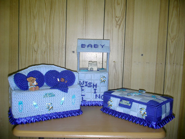 Baby Shower Knitwear Centerpiece