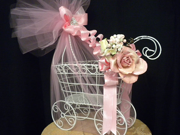 Carriage Baby Centerpiece