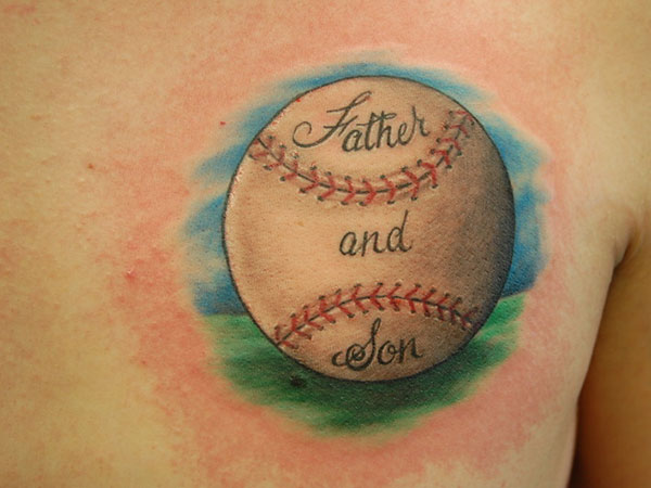 front baseball tattoo 25 Stupendous Baseball Tattoos