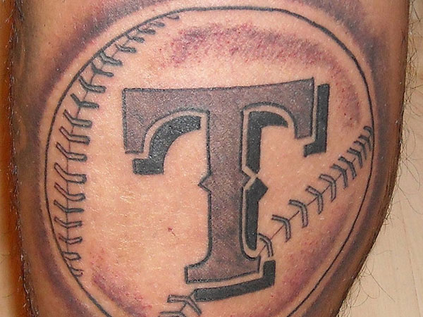 leg baseball tattoo 25 Stupendous Baseball Tattoos