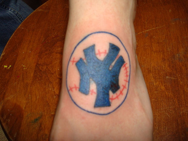 yankees baseball 25 Stupendous Baseball Tattoos