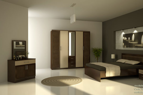 Bedroom Brown Furniture with Paint 600 x 400