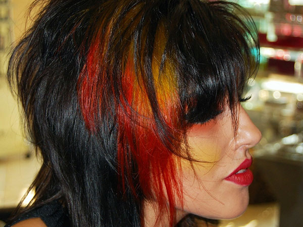 Red Colorful Hairstyle