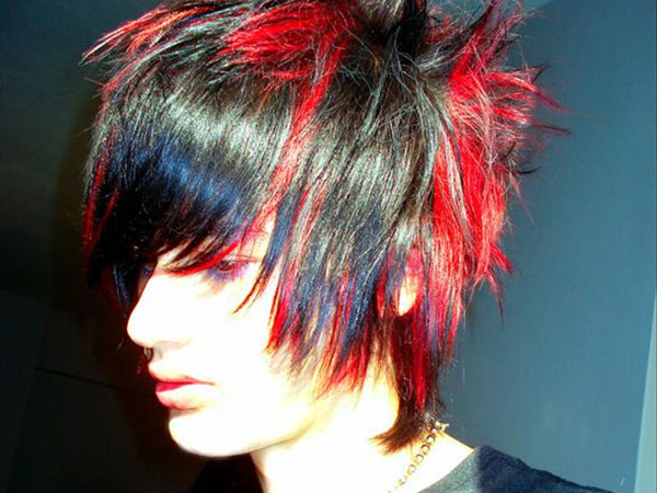 Awe Inspiring 25 Awesome Black And Red Hairstyles Slodive Hairstyle Inspiration Daily Dogsangcom