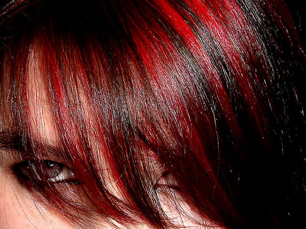 Red And Black Hair Dye Styles