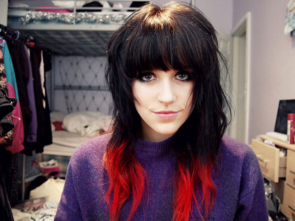 Strange 25 Awesome Black And Red Hairstyles Slodive Hairstyle Inspiration Daily Dogsangcom