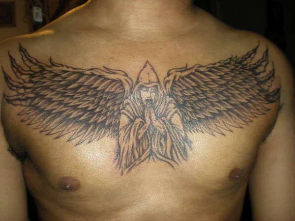 angel wings 25 Attractive Black People Tattoos