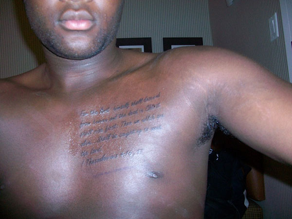bible verse tattoo 25 Attractive Black People Tattoos