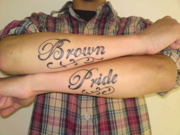 Floral Brown Pride Tattoo