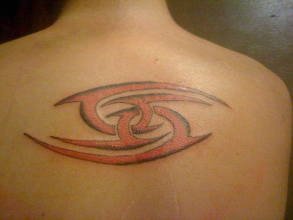 Red Intertwined 69 Tattoo