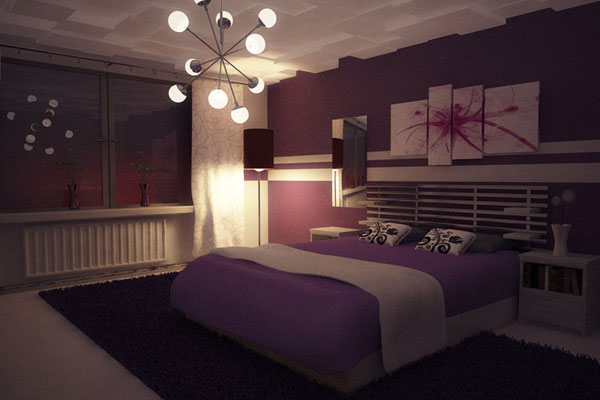 purple bedroom 25 Spectacular Cool Bedroom Ideas