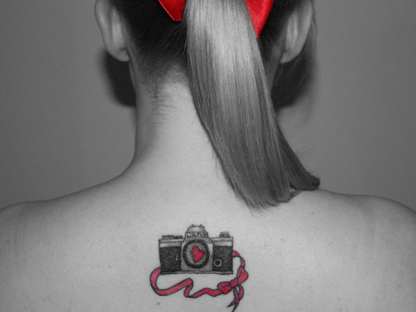 Cool Camera Love Tattoo