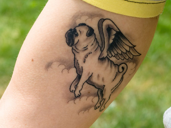 Angel Pug Tattoo