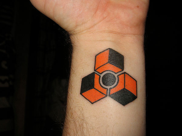 Geometry Cube Sphere Tattoo
