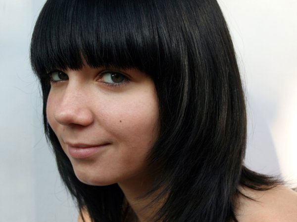 Blunt Hairstyle With Cute Bangs