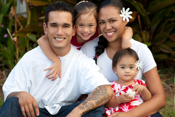 Family Hawaiian Picture