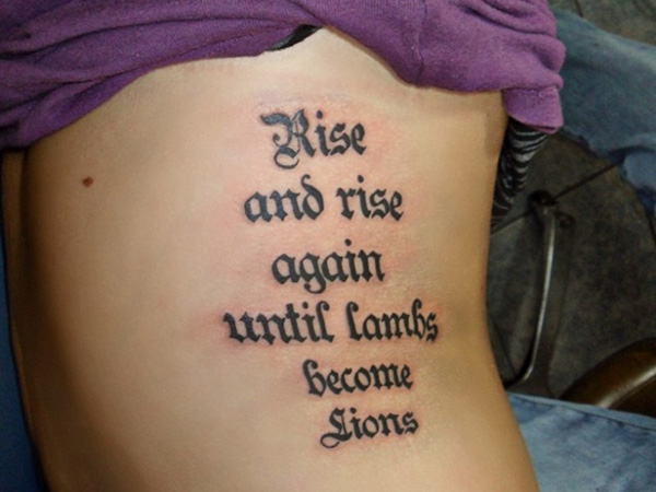 25 famous tattoo quotes which are adorable sloe