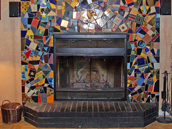 Colorful Fireplace Surround