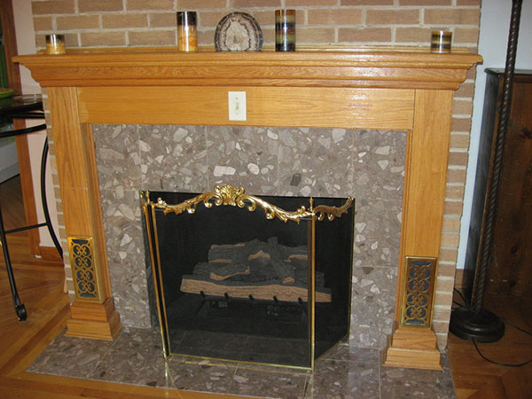 Gold Border Fireplace