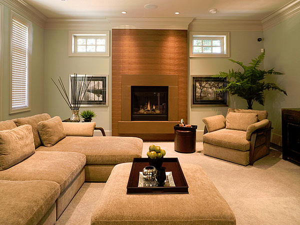 Brown Fireplace Surround Idea