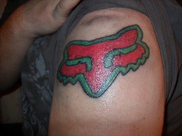 Red And Green Fox Tattoo