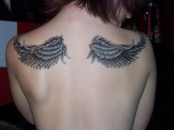 Good Wings Back Tattoo