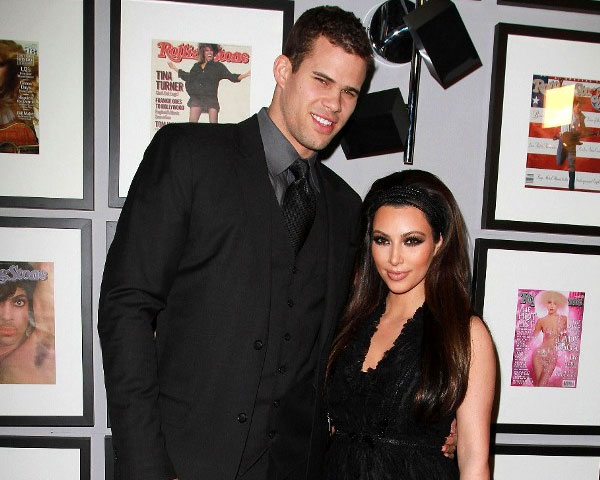 kim kardashian fiance kris humphries 25 Impressive Kim Kardashian Hair Color Ideas