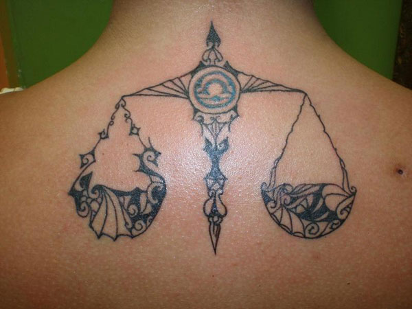 libra scale 30 Overwhelming Libra Tattoos