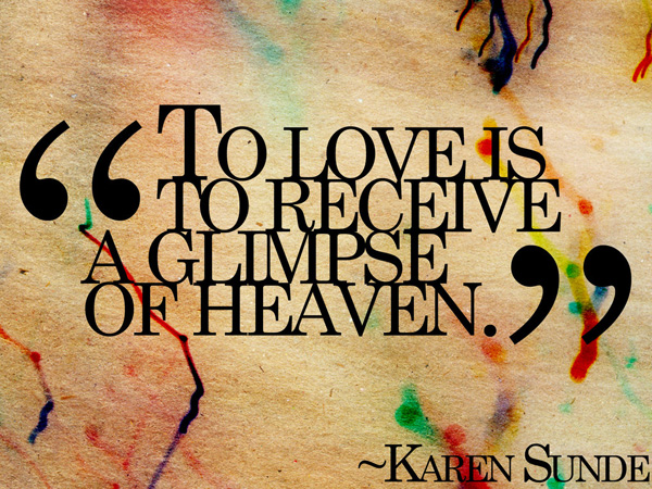 Love Colored Streaks Quote