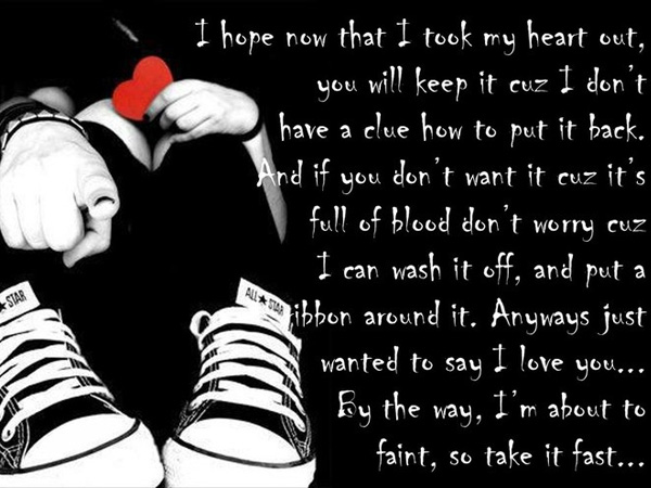 Love Bleeding Quote