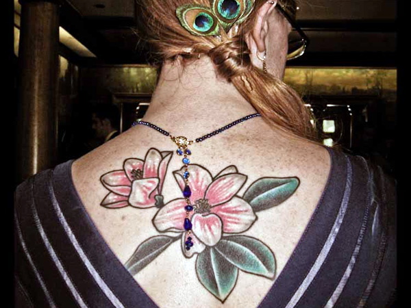 Awesome Magnolia Tattoo