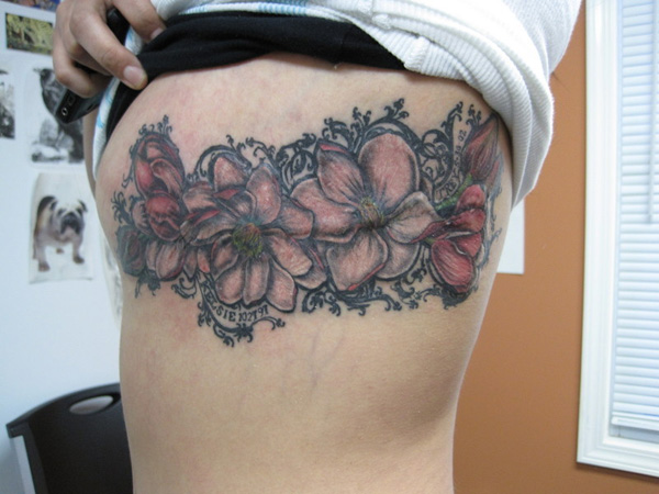 Magnolia Garland Tattoo