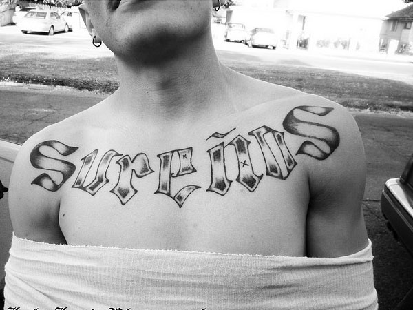 Mexican Chest Tattoo