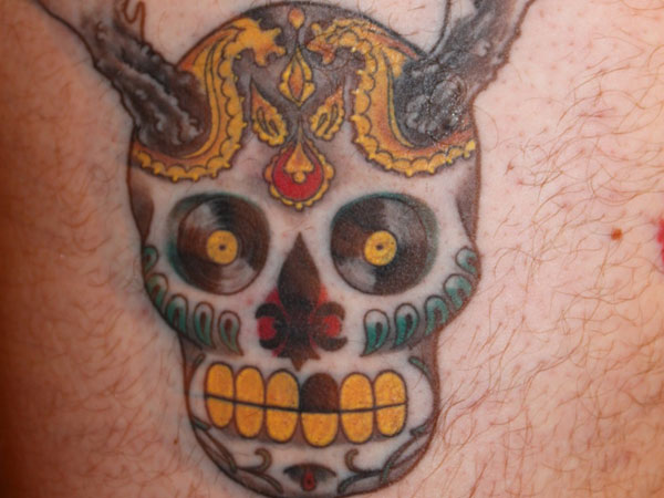 voodoo inspired 25 Splendid Mexican Skull Tattoo Designs